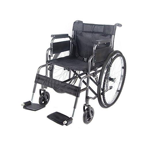 Xiaolong All AID Footrest Self Propelled Folding Lightweight Transit Comfort Wheelchair (Grey)