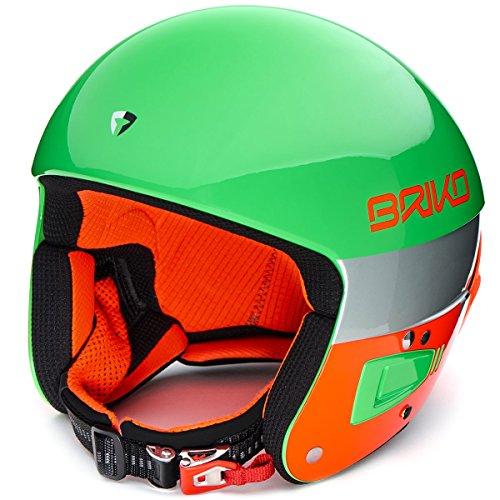 Briko Vulcano FIS 6.8 Green Fluo - Casco, Color Naranja