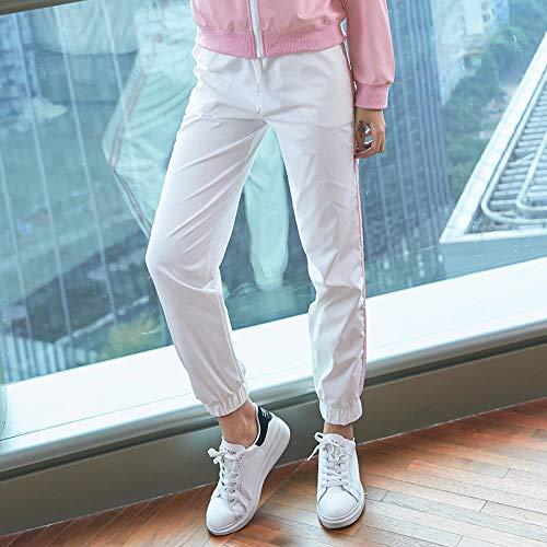 Niet-doorschijnende stretchy legging met hoge taille voor meisjes,Dames yoga broek met hoge taille, fitness stretch legging-White_XL,Taille yogabroek met zakken