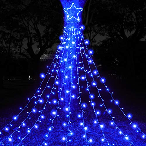 MAOYUE Outdoor Christmas Decorations Waterproof 335 LED Star Lights 8 Lighting Modes Outside Tree Decoration Lights for Yard, Christmas, New Year, Wedding, Party