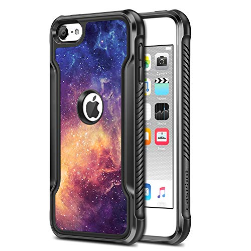 Fintie Case for iPod Touch 7 iPod Touch 6 iPod Touch 5 - Casebot Heavy Duty Impact Shockproof TPU Bumper Slim Protective Case with Hard Back Cover for iPod Touch 7th 6th 5th, Galaxy