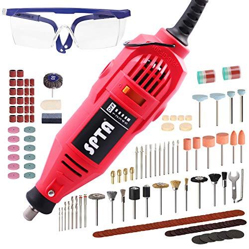 SPTA 152tlg 220V 130W Mini Schleifer Professionelles Rotationswerkzeug Set Multifunktionswerkzeug für Mehrzweckschleifmaschine zum Fräsen, Trennen, Schleifen