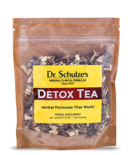 Dr. Schulze's | Detox Tea | All Purpose Herbal Tonic | Powerful Digestive Stimulant | Dietary Supplement | Ultimate Liver Cleanse | Helps Eliminate Gas & Indigestion | Release Toxins | 6 Oz. Pack