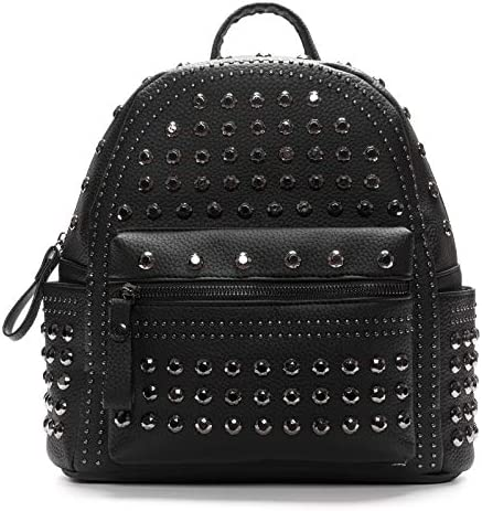 Womens Studded PU Leather Backpack Casual Backpack with Studs PU Leather Rivet Backpack Studded product image