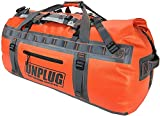 Unplug Ultimate Adventure Bag -1680D Heavy Duty Waterproof Duffel Bag for Boating, Motorcycling, Hunting, Camping, Kayaks or Jet Ski. Gets Gear Through Any Conditions (65L, Adventure Orange)