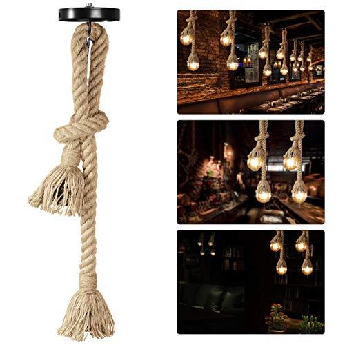 LEDMOMO Lámpara de Cáñamo Lámpara Cuerda Vintage Rústico la decoración de Comedor Restaurante 1 M