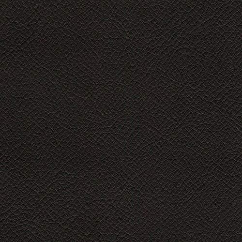 2R STOCK SRL Tessuto Ecopelle Finta Pelle per arredo (40x150 cm, Nero)