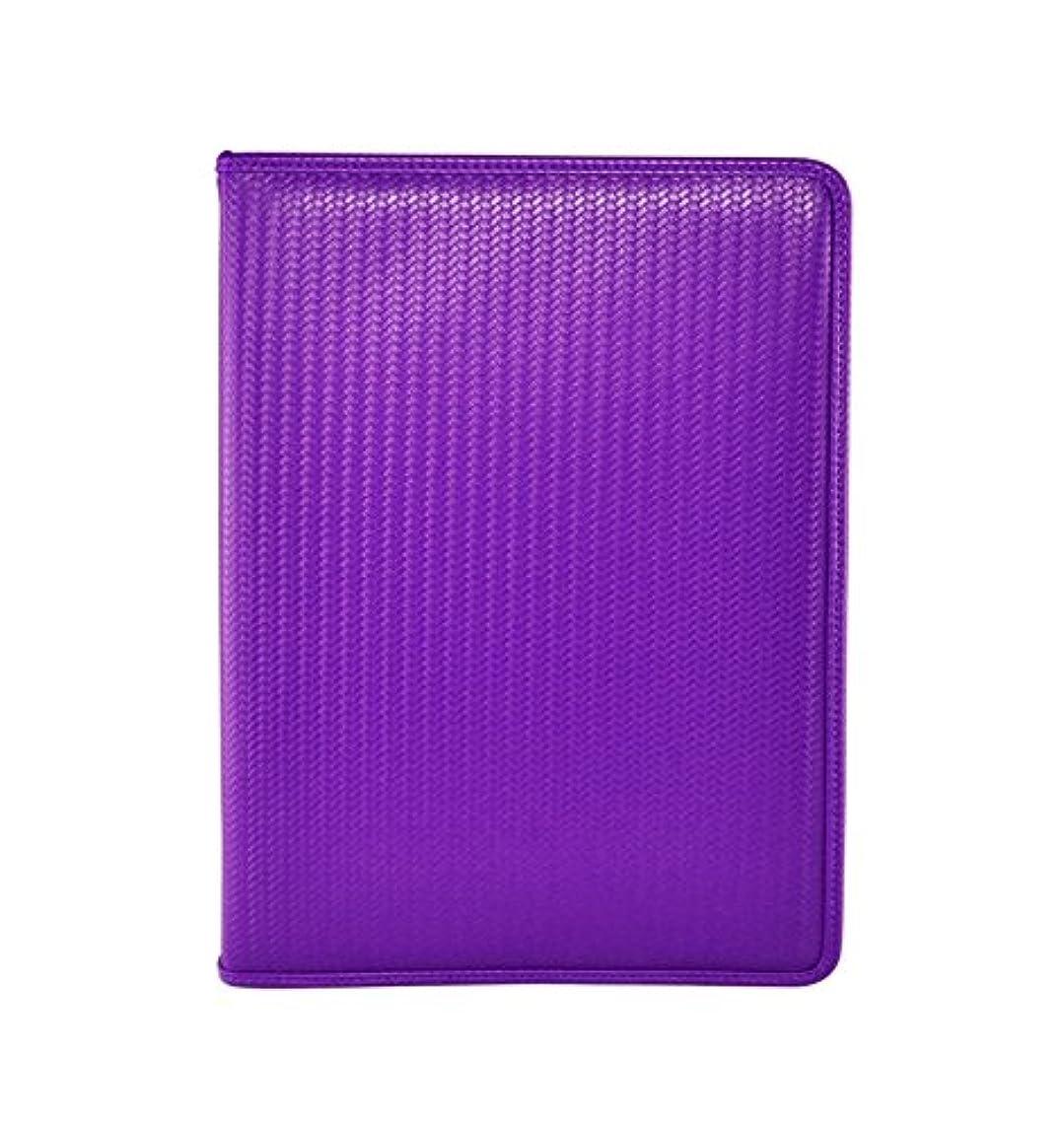Dex ProLine Portfolio 9 Pocket Zipper Purple