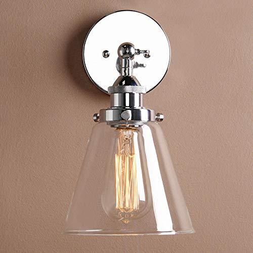 Vintage eenvoudige trechter glas wandlampen Rose Gold wandlamp nachtwandlamp Moderne E27 lampen slaapkamer studie ganglichter chroom