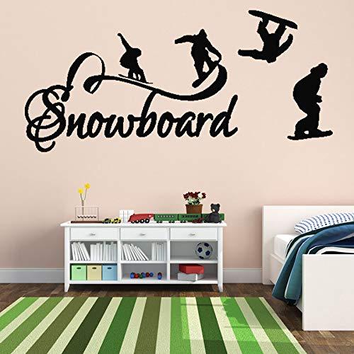 zhuzhuwen Grote Emoji muursticker voor de kinderkamer, wandschildering, vinyl, skateboard curve, tekst voor de kamer, jongens, S 41X89 cm