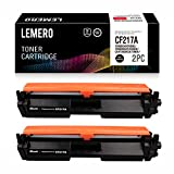 2 LEMERO Compatible HP CF217A 17A Cartuchos de Toner [con Chip] para Laserjet Pro M102A M102W HP Laserjet Pro MFP M130a M130nw M130fn M130fw Impresora,Negro