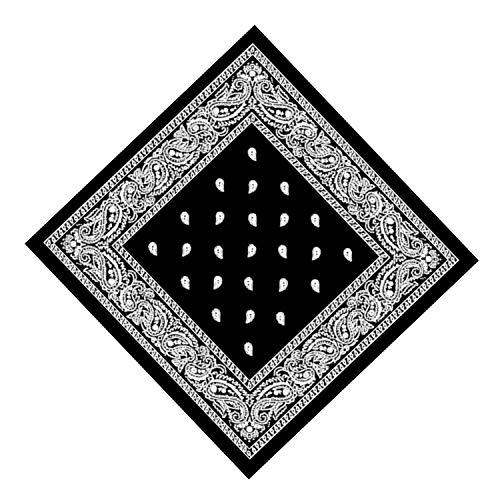 Bandana Tuch schwarz Paisley 100% Baumwolle Halstuch Kopftuch Schal