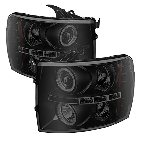 Spyder LED Halo Projector Headlights For Silverado
