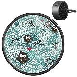 NOBRAND - Deodorante per auto con simpatici gufi invernali e neve, diffusore per aromaterapia, 2 pezzi