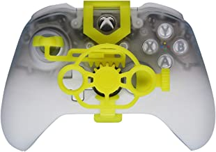 Xbox One Gaming Racing Wheel (Enhanced), 3D Printed Mini Steering Wheel add on for Xbox One X/Xbox One S/Elite Controller (Yellow)