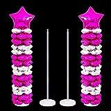 leegoal, kit di colonne per supporto palloncini, altezza 101 / 127  cm, fai da te, per decorazione di feste di compleanno, matrimoni, feste, eventi 97cm