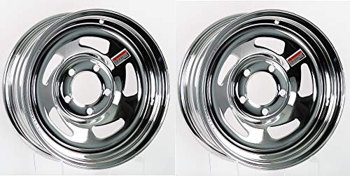 2-Pack Trailer Wheel Chrome Rims 14 x 5.5 Directional Style 5 Holes On 4.5