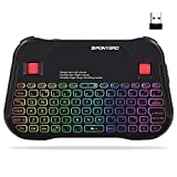 PONYBRO Backlit Mini Bluetooth Wireless Keyboard with Touchpad QWERTY keypad,Support Bluetooth&2.4G USB Connection,Rechargeable Handheld Keyboard Remote for Smartphones,Smart TV,Android TV Box,PC,Pad.