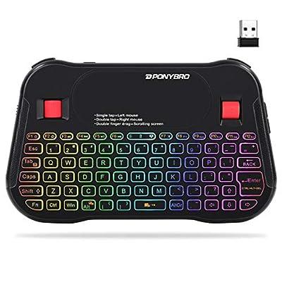 Amazon - Save 10%: (Newest Version) PONYBRO Backlit Mini Bluetooth Wireless Keyboard with T…