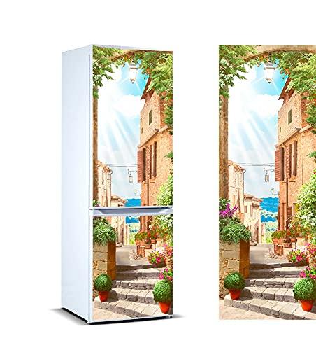 Oedim Vinilo para Frigorífico Italia 185 x 70 cm | Adhesivo Resistente y de Fácil Aplicación | Pegatina Adhesiva Decorativa de Diseño Elegante