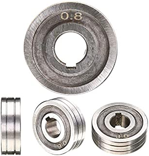 """High Precision Steel 0.6X0.8 MIG Welder Wire Feed Drive Roller Roll Kunrled-Groove .030""""-.035"""" for Welding Machine Driving Wheel"""