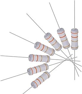 sourcingmap 5 pzs 0,33 ohm da 10Watt verde placcato in Alluminio a spirale resistori Dissipatore di calore