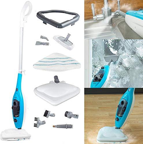 AMITD Limpiadora a Vapor de Mano 2020.2500 Vapor limpiadores de Vapor Limpiador a Vapor de la fregona del Vapor del Limpiador Limpiador a Vapor de Mano como Tierra Azul