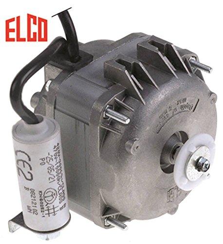 ELCO R18-25/010 - Motor de ventilador para Cookmax 622004, 621005 (230/240 V, 18 W, 2600 rpm, 50/60 Hz, altura 110 mm, 3 opciones de fijación)