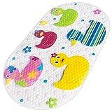 Yolife Badematte Baby, rutschfeste Matte mit fünf bunten Enten, rutschfeste Badematte, duschbare Duschmatte, Duscheinsatz-Badematte für Kinder, rutschfeste Badewanne 39 * 69 cm