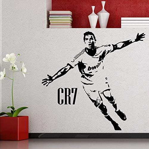 Cristiano Ronaldo Fußballspieler Aufkleber Sport Fußball Aufkleber Helme Kinderzimmer Poster Vinyl Wandtattoos Fußball Aufkleber-84x80cm