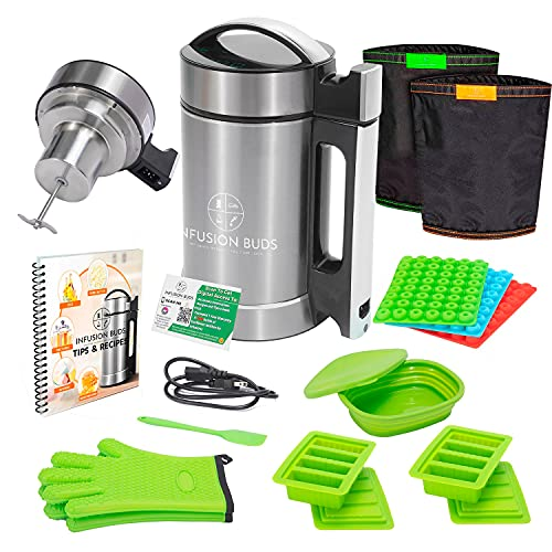 Infusion Buds Butter Infuser Machine- 2021 Herbal Butter Maker Machine | Herbal Butter & Oil Infuser Machine. Butter Machine | Includes Decarb Box And Tons Of Accessories