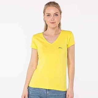Slazenger YILDIZ Kadın V Yaka T-Shirt Sarı