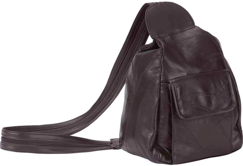 Embassy Italian Stone Design Genuine Leather Backpack Purse