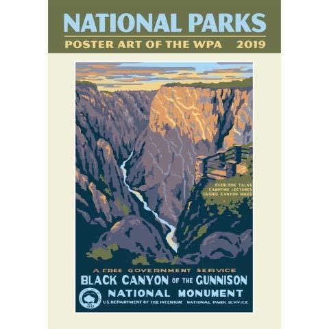 2019 National Parks Poster Art of the WPA Poster Calendar