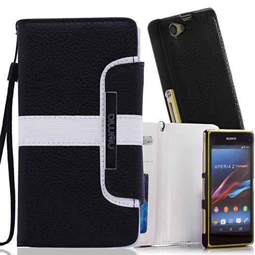 numia Schutzhülle für Sony Xperia Z3 Hülle [herausnehmbares Case] PU Leder Tasche Kartenfach [Schwarz]