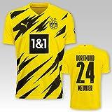 PUMA BVB Heimtrikot Kinder Saison 2020/21, Größe:128, Spielername:24 Meunier