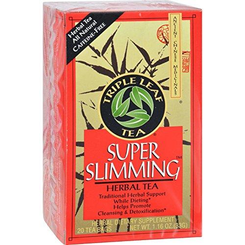 Triple Leaf Tea Super Slimming Herbal Tea - 20 Tea Bags - Case of 6
