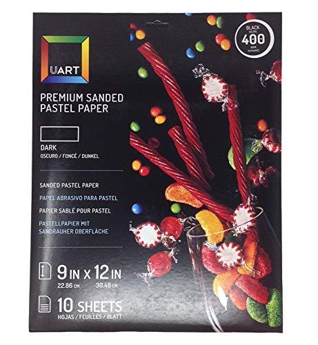 UART Grade 400 Dark Premium Sanded Pastel Paper - 9' x 12'...