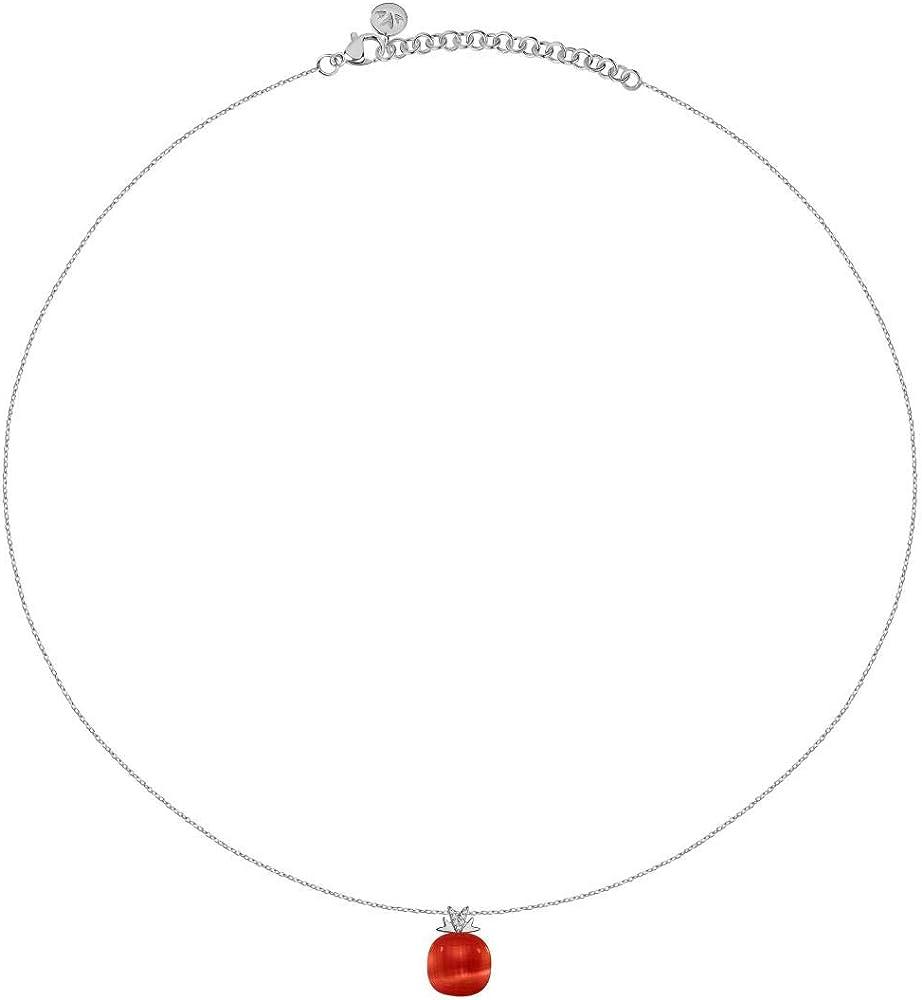 Morellato collana da donna, collezione gemma, in argento 925 e pendente con  pietra cat eye - SAKK107