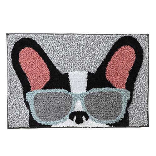 SKL HOME by Saturday Knight Ltd. Frenchie Glasses Rug, Gray