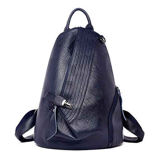 NIYUTA Donna Borse a zainetto viaggio moda casual scuola Borse a spalla marca zaino it184 Blu