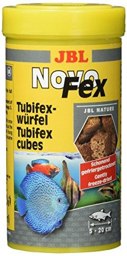 JBL NovoFex 30630, Leckerbissen für Aquarienfische, Tubifexwürfel, 250 ml
