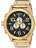 Nixon 51-30 Chrono Gold/Black Men's Underwater Stainless Steel Watch (51mm. Gold & Black Face/Gold Stainless Steel Band)