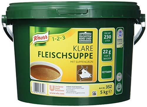 Knorr klare Fleischsuppe (mit Suppengrün, Rinderbrühe nach bewährter Rezeptur) 1er Pack (1 x 5 kg)