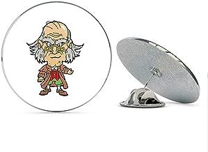 BRK Studio Grumpy Vintage Old Scrooge Man Cartoon Round Metal 0.75
