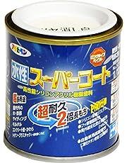 アサヒペン 水性スーパーコート 1/12L ツヤ消し白