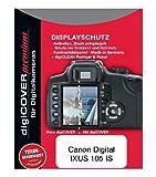 DigiCover - Protector premium de pantalla LCD para Canon Digital IXUS 105 IS