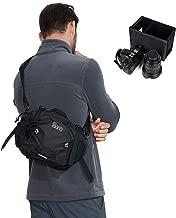 IDAND Multipurpose Crossbody Shoulder Bag Camera Sling Backpack for DSLR Mirrorless Cameras, Lens, with Removable Inner Bag for Travel Hiking Daypack