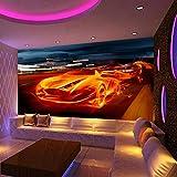 HRXBH Mural 3D Club Deportivo Club Nocturno Club De Vinos Fondo De Pantalla Restaurante Cafetería Oficina Gimnasio Sala De Estar Dormitorio Habitación De Hotel Decoración De La Par(W)520x(H)290cm