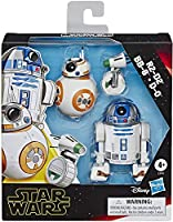 "Star Wars E3118 Galaxy of Adventures R2-D2, BB-8, D-O Action Figure 3 Pack, 5"" Scale Droid Toys with Fun Action..."